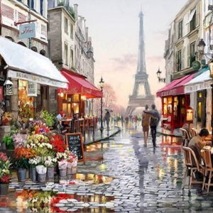 Paris DIY Oil painting by numbers